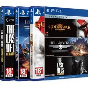 Playstation 4 Triple Pack 2 (God of War III Remastered / Helldivers / The Last of Us Remastered) (Asia)