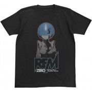 Re:Zero - Starting Life In Another World - Rem Glow In The Dark T-shirt Black (M Size) (Japan)