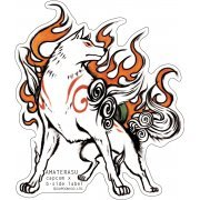 CAPCOM x B-SIDE Label Ōkami Sticker: Amaterasu Shape (Japan)