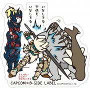 CAPCOM x B-SIDE Label Monster Hunter XX Sticker: Brave style (Japan)