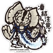 CAPCOM x B-SIDE Label Monster Hunter XX Sticker: Touketsu Chui (Japan)
