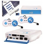 SNES/ Genesis/ NES Retro-Bit Super RetroTRIO 3 Gaming Console (White & Blue)