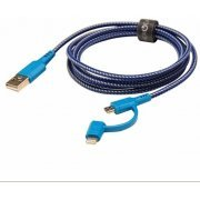 Energea NyloTough 2-in-1 MicroUSB + Lightning Cable 1.5m (Blue)