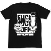 Pop Team Epic Fxxk Off T-shirt Black (M Size) (Re-run) (Japan)