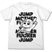 Pop Team Epic Jump T-shirt White (S Size) (Re-run) (Japan)