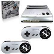RetroDuo SNES & NES Dual 2 in 1 System (Sliver/Black)