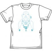 Ghost In The Shell Stand Alone Complex Tachikoma T-shirt White (M Size) [Re-run] (Japan)
