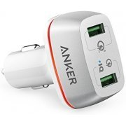 Anker PowerDrive+ 2 Car Charger with Quick Charge 3.0 (White)