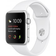 Apple Watch Series 2 42mm with White Sport Band (Silver) (Hong Kong)