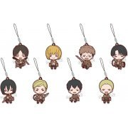 Nitotan Attack on Titan Rubber Mascot (Set of 8 pieces) (Japan)