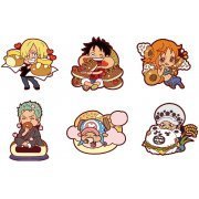 Rubber Mascot Mogumogu One Piece: Sanji's Kitchen -Brunch- (Set of 6 pieces) (Japan)