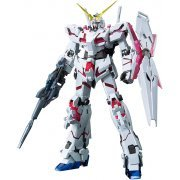 Mobile Suit Gundam 1/100 Scale Model Kit: Unicorn Gundam (Red / Green Twin Frame Edition) Titanium Finish (MG) (Japan)