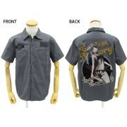Infinite Stratos Laura Bodewig Full Color Work Shirt Nose Art Ver. Gray (L Size) (Japan)