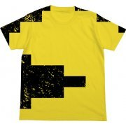 Pac-Man All Print T-shirt Yellow (XL Size) (Japan)