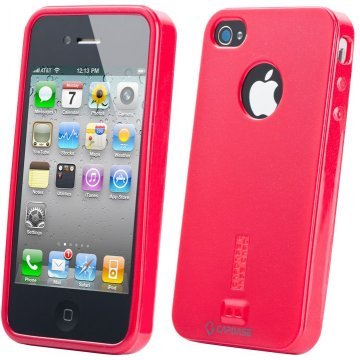 capdase soft jacket iphone 44s case solid red 209719