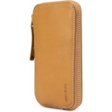 incase leather zip wallet for iphone 5c 5s browntan 367161