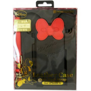 gourmandise disney iphone 6 diecut leather case with neck strap 395617