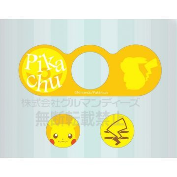 gourmandise character button seal pikachu poke526a 403347