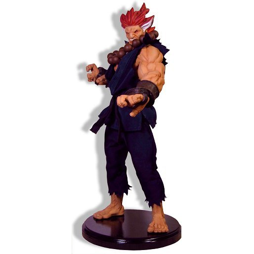 Street Fighter 1/4 Scale Polystone Mixed Media Statue: Akuma (with autographed poster)