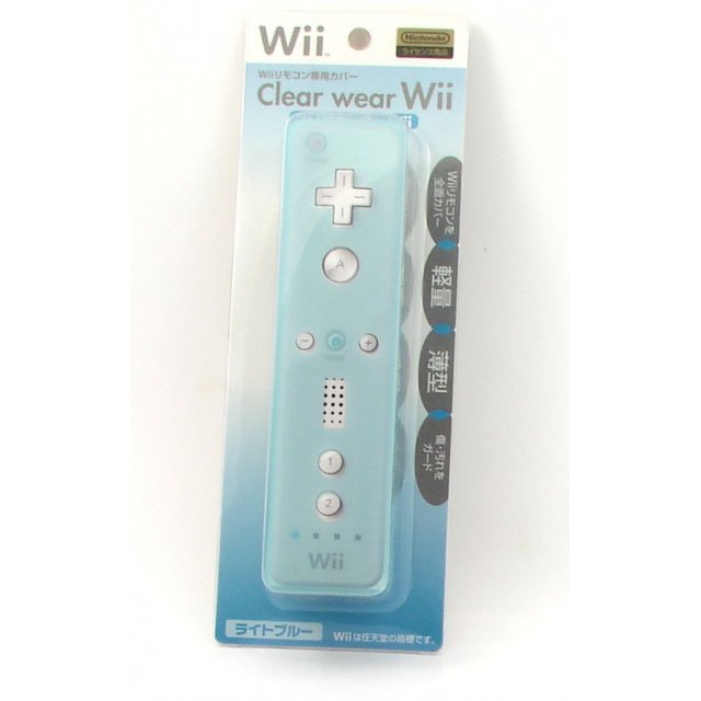 Wii Remote Control Clear Wear Cover (light blue)