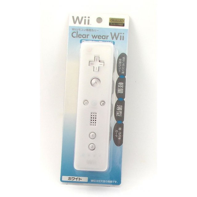 Wii Remote Control Clear Wear Cover (white)