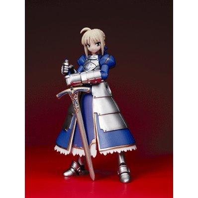 Revoltech Series 2G - Fate/Stay Night Non Scale Pre-Painted PVC Figure: Saber (Re-run)