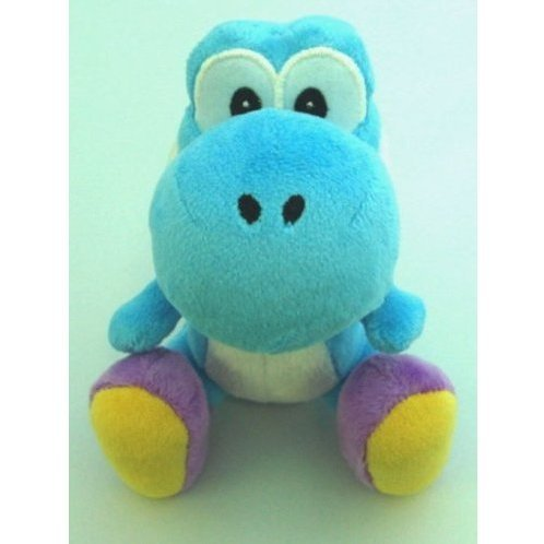 Yoshi Island Colorful Stuffed Toy (Light Blue)