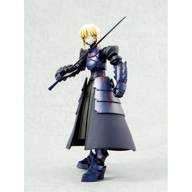 Fate/Stay Night Revoltech Pre-Painted PVC Action Figure - Black Saber