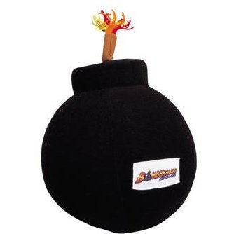 Bomberman Sound Bakuhatu Plush Doll: Black Bomb