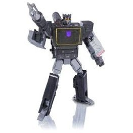 Transformers Music Label: Soundwave playing audio player (Blasterblack version)