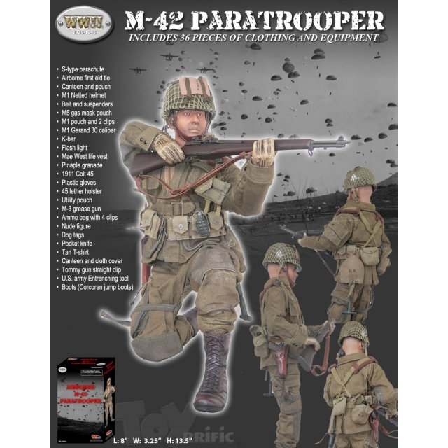 WWII Airborne M-42 Paratrooper 1/6 Scale Action Figure