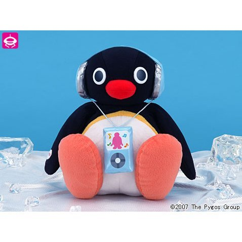 Superjambo Plush Doll Pingu (Head-shaking version)