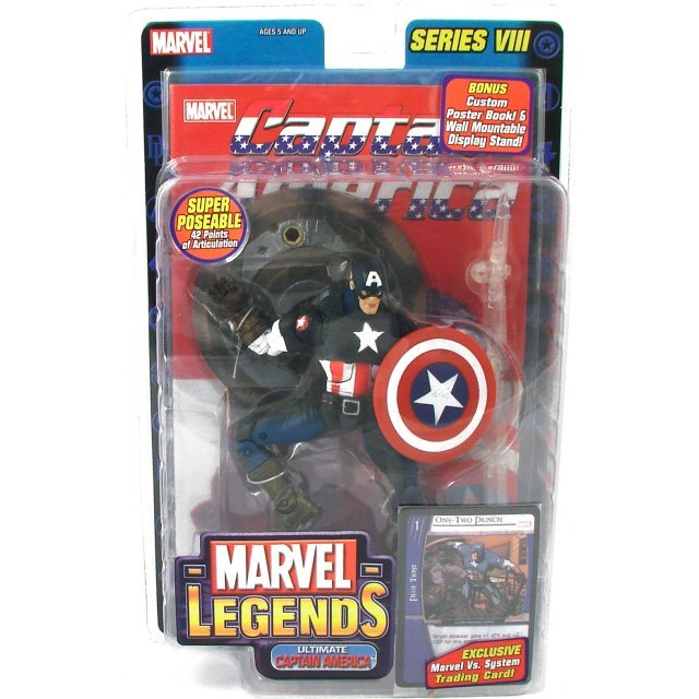 Marvel Legends Series 8 Pre-Painted Action Figure: Ultimate Captain America