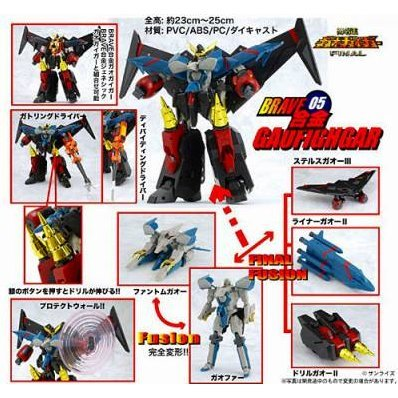 The King of Braves Gaogaigar Non Scale Pre-Painted PVC Figure: Gaogaigar (Re-Run)