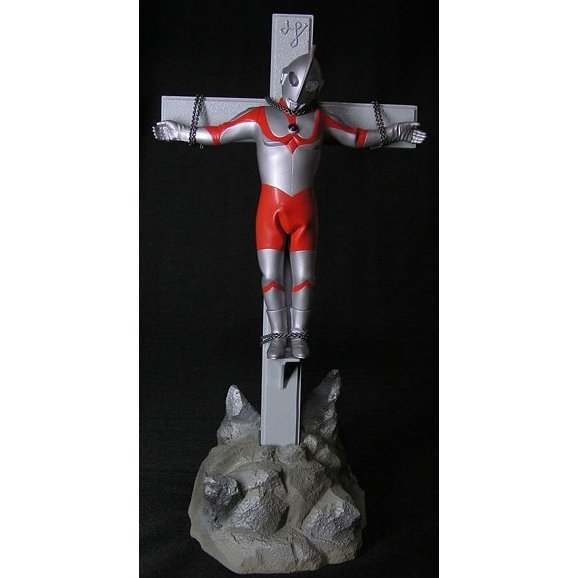 The First Golgotha Series Ultra-man Non Scale Pre-Painted PVC Figure: Ultra-man with cross