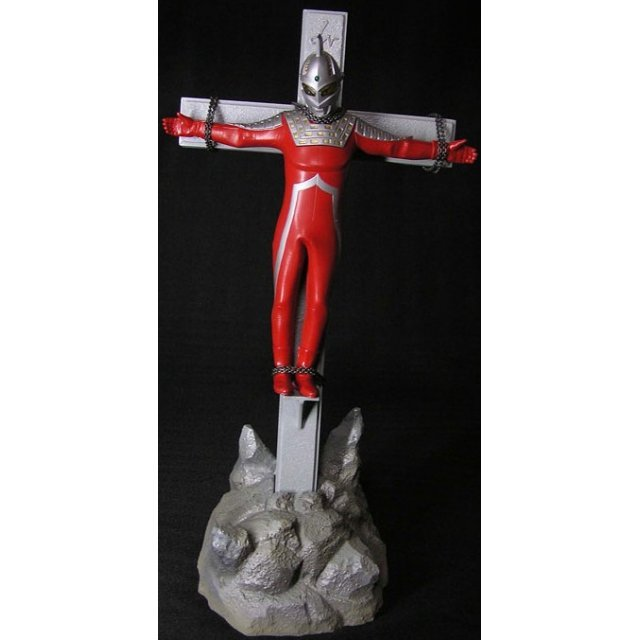 The First Golgotha Series Ultra-man Non Scale Pre-Painted PVC Figure: Ultra-man 7 with cross