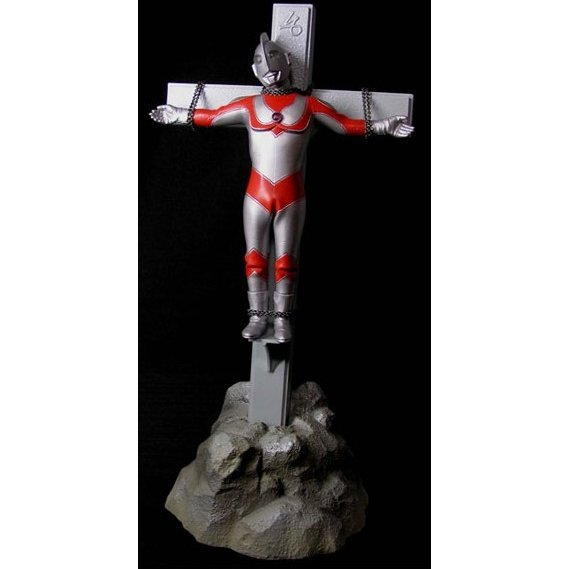 The Second Golgotha Series Ultra-man Non Scale Pre-Painted PVC Figure: Ultra-man Jack with cross