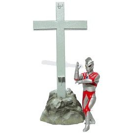 The Third Golgotha Series Ultra-man Non Scale Pre-Painted PVC Figure: Ultra-man Ace with cross