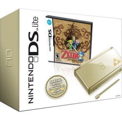 nintendo ds lite gold with legend of zelda phantom hourglass. Black Bedroom Furniture Sets. Home Design Ideas