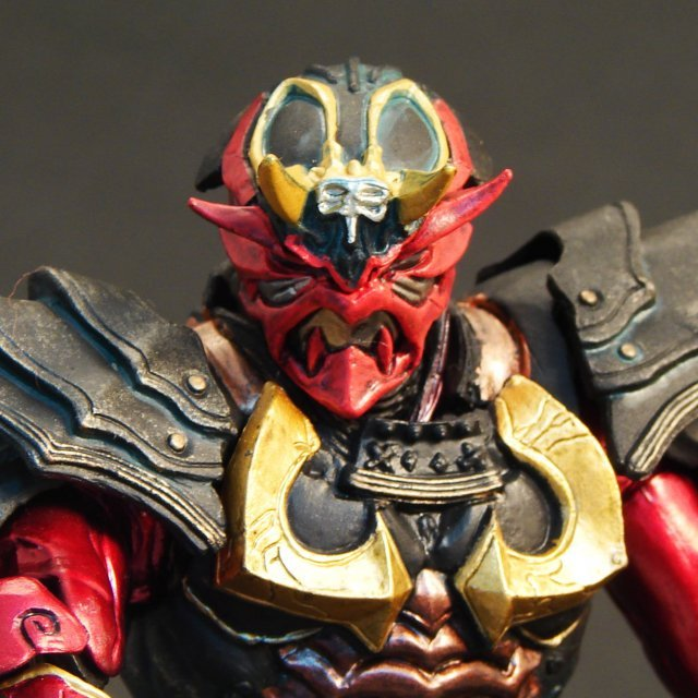 S.I.C. Hero Saga Kamen Rider Non Scale Pre-Panited Figure: Hibiki Edition (Seven Ogres Version)
