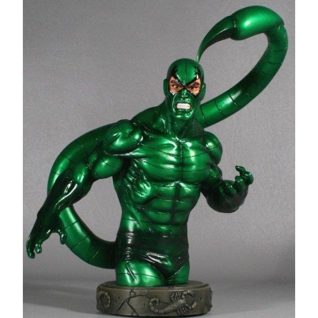 Bowen Designs Marvel Collectibles Pre-Painted Polystone Statue: Scorpion Modern Mini-bust