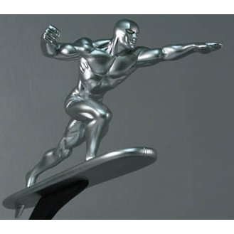 Bowen Designs Marvel Collectibles Pre-Painted Polystone Statue: Silver Surfer Galactus
