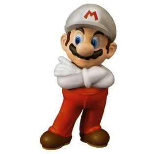 Super Mario PVC figure 1/8 Scale Pre-painted PVC Figure: Fire Mario