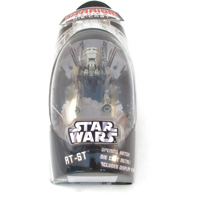 Titanium Series Star Wars Pre-Painted Diecast Model: AT-ST