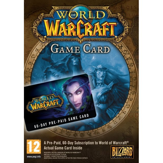 World of Warcraft 60 days Time Card Prepaid US