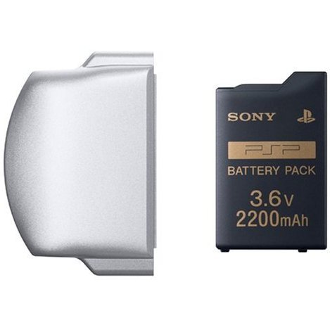 PSP PlayStation Portable Battery Pack (2200mAh) (Ice Silver)