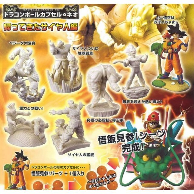 Dragon Ball Z Neo The Return of Saiya Non Scale Pre-Painted Gashapon Toy