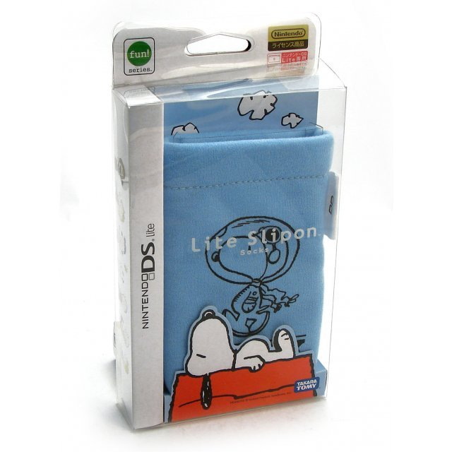 Peanuts Lite Slipon Socks Pouch - Blue