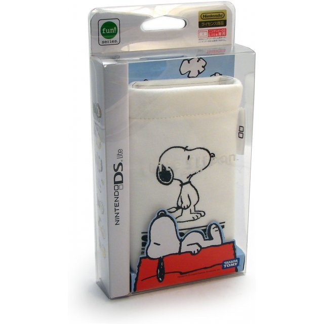Peanuts Lite Slipon Socks Pouch - White