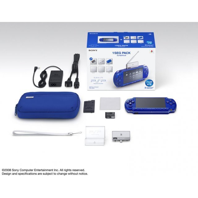 PSP PlayStation Portable Slim & Lite - Metallic Blue 1seg Pack (PSPJ-20004)